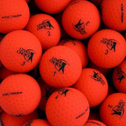 LINKS CHOICE NEW MATTE RED BALLS 1KS