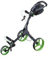 BigMax IQ+ golfcart vozík čierny/zelené kolieska