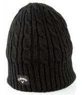 Callaway Ladies Cable Knit čiapka čierna