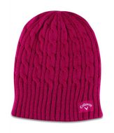 Callaway Ladies Cable Knit čiapka ružová