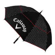 "Callaway Uptown 60"" Double Canopy Umbrella black/white 2016 dáždnik"