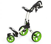 Clicgear ROVIC RV1S vozík biely/zelené kolieska