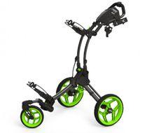 Clicgear ROVIC RV1S vozík čierny/zelené kolieska