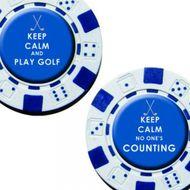 Longridge Keep Calm Poker Chip Ballmarkers 2ks markovátko