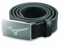 Mizuno MRB Leather Belt black opasok