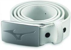 Mizuno MRB Leather Belt white opasok