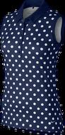 Nike Precision Sleeveless Print polo midnight navy dámske tričko