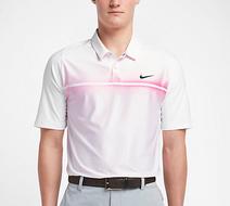 Nike TW VL Max Hypercool Print Polo White/Pink pánske tričko
