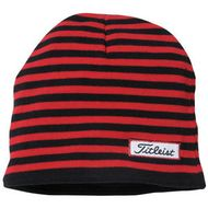 Titleist winter beanie Men's striped čiapka čierna/červená