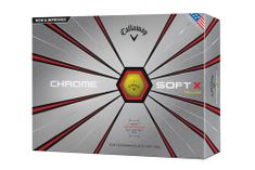 Callaway Chrome Soft X yellow 2018 12ks lopty