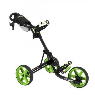 Clicgear 3.5+ vozík čierny/zelené kolieska + DARČEK