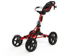 Clicgear 8.0 vozík červený/čierne kolieska