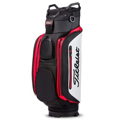 Titleist deluxe Cart bag blk/wht/red